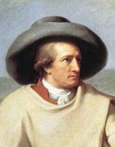 Détail d'un portrait de Goethe par l'artiste Tischbein en 1787.